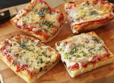 cara membuat pizza mini roti tawar ala rumahan mini