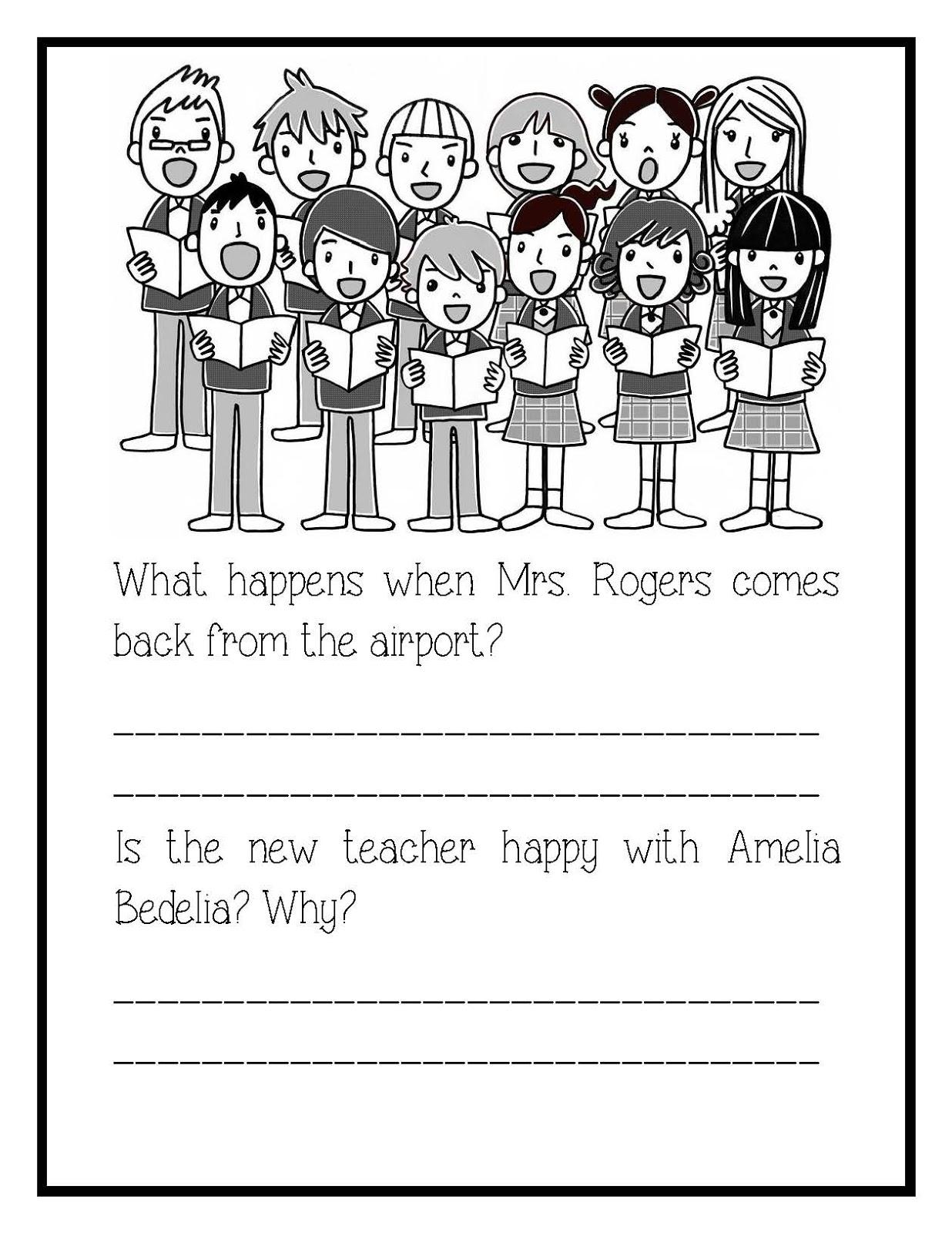 Amelia Bedelia Worksheet