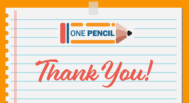 one pencil 2018 thank you