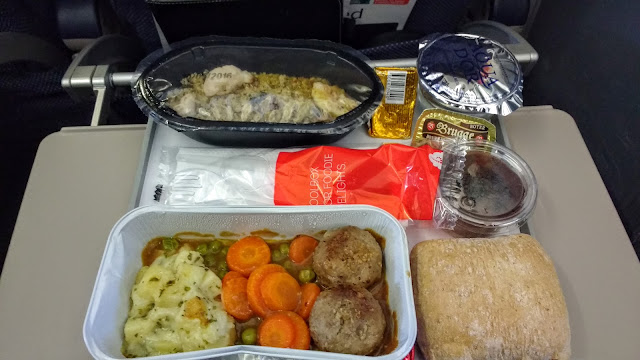 Brussels Airlines Onboard Meal of Boulettes