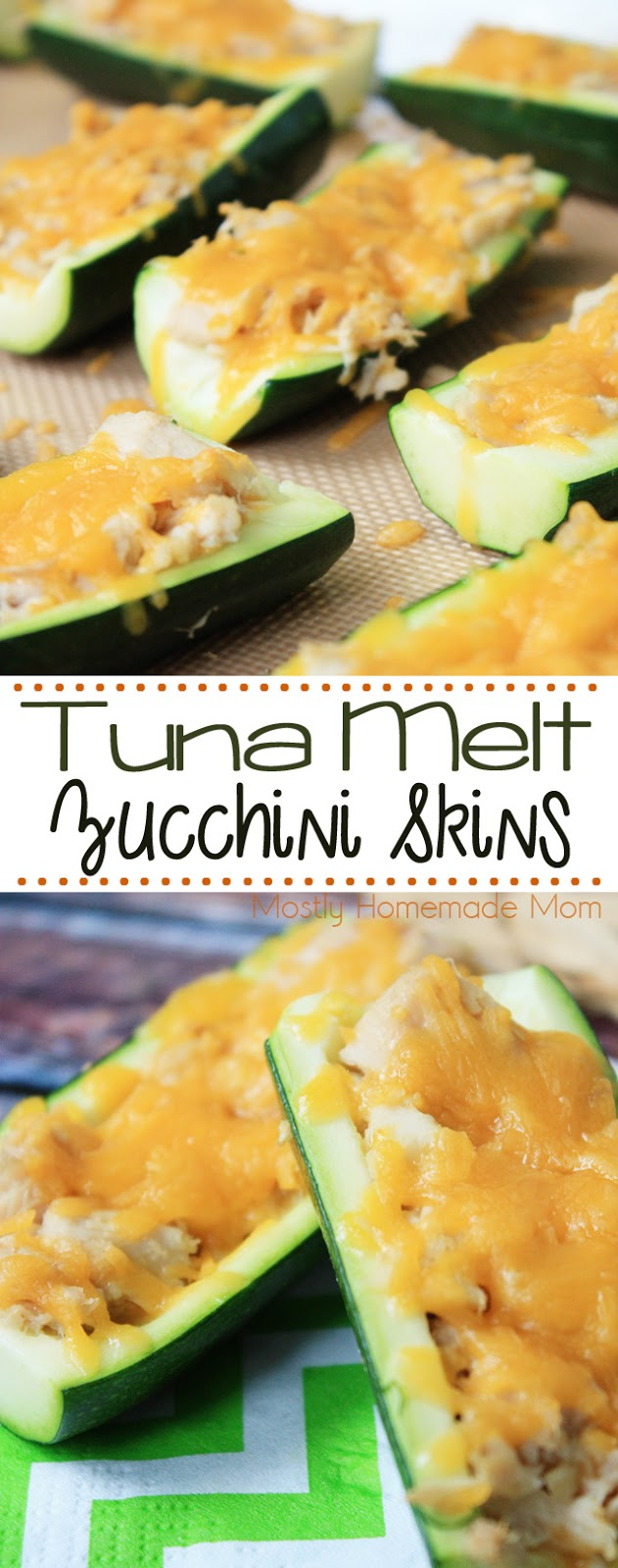 Tuna Melt Zucchini Skin