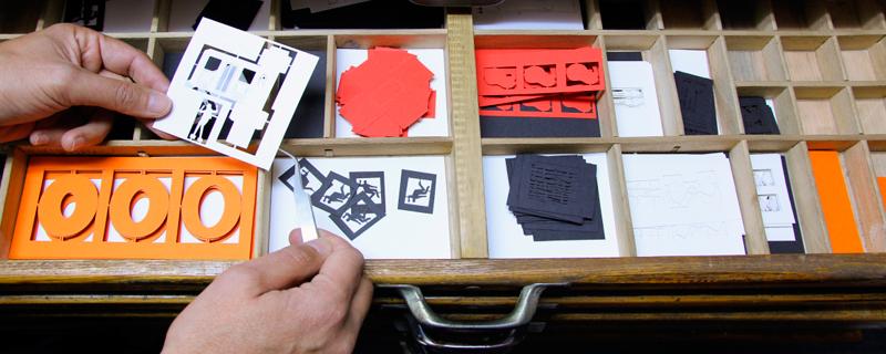 Escenas de película de papel en 3D