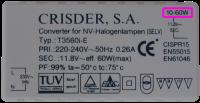 Electronic transformer 10-60 watt load requirement