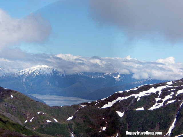 mountain view from a float plane in Alaska