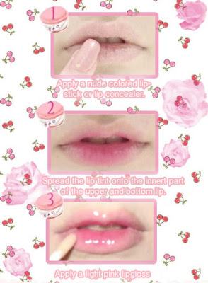 cara lipstik ala korea