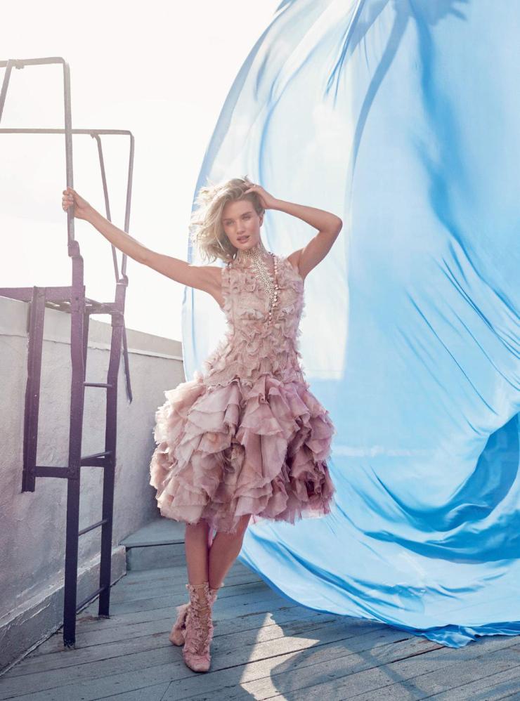 Rosie Huntington Whiteley Harper's Bazaar UK September Issue 2015 Photographer Alexi Lubomirski