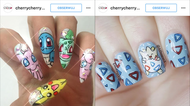 pokemonowe paznokcie