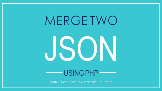 php merge two json strings
