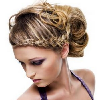 Gambar model rambut kepang 22