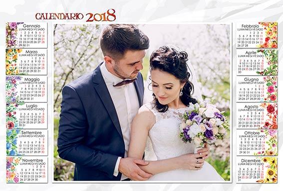 calendario 2018 sposi