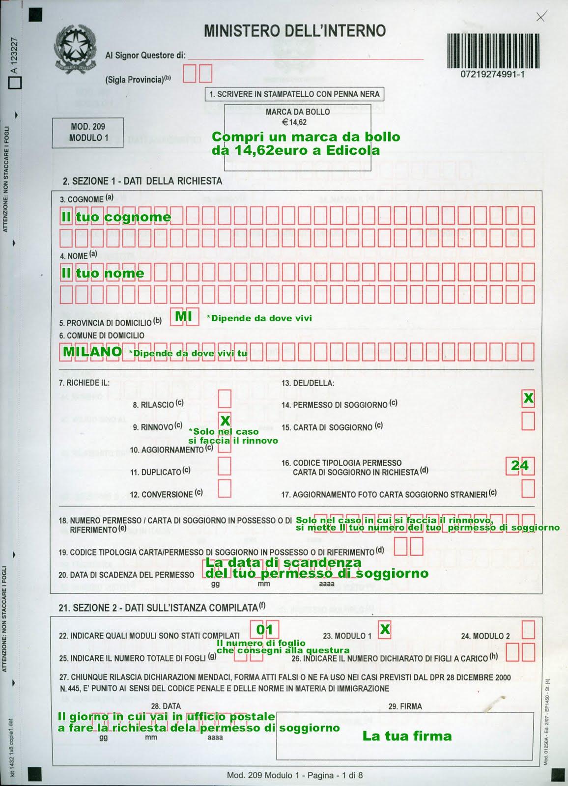 Controllo Online Carta Di Soggiorno | Polizia Di Stato Carta Di ...