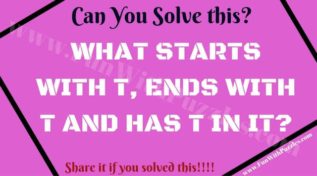 Fun Word Puzzle to test your out of box thinking