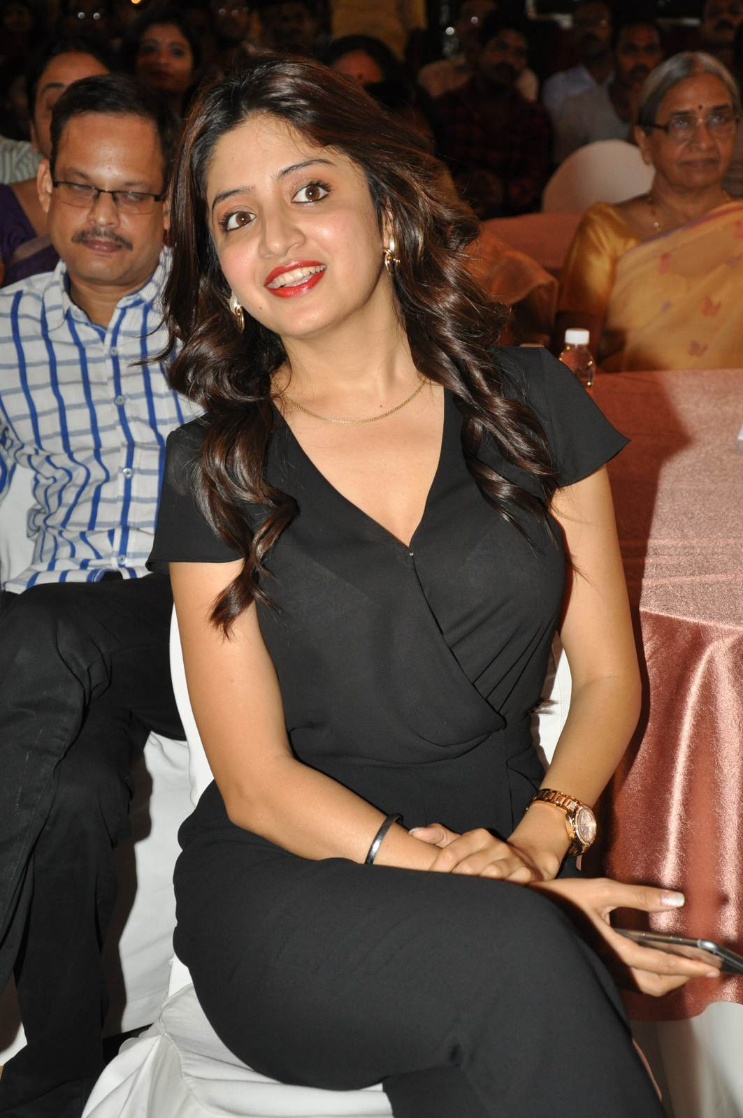 Poonam Kaur Pics, Poonam Kaur hot Pics in black Dress from 365 Days Movie Audio Launch