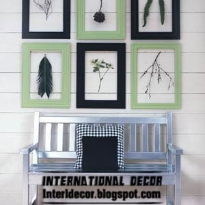 handmade picture frames, decorating walls with picture frames