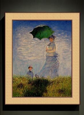La promenade, la femme à l'ombrelle