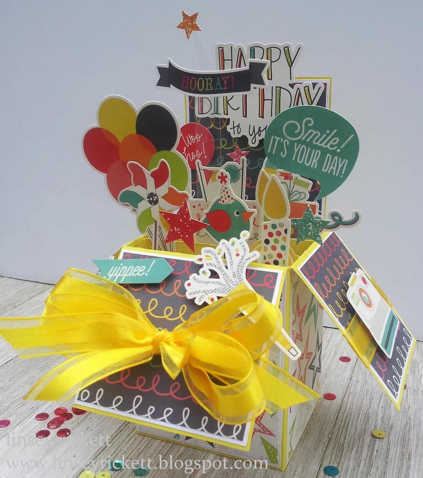 Really Reasonable Ribbon Blog: Happy Birthday Pop Up Box Card