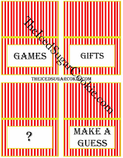 Circus Food Cards-Games, Gift, Question Mark, Make A Guess