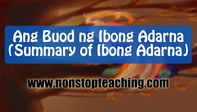 Buod ng Ibong Adarna (Summary of Ibong Adarna)