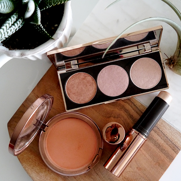 Nude By Nature Highlight Palette, Highlight Stick, Cashmere Pressed Blush