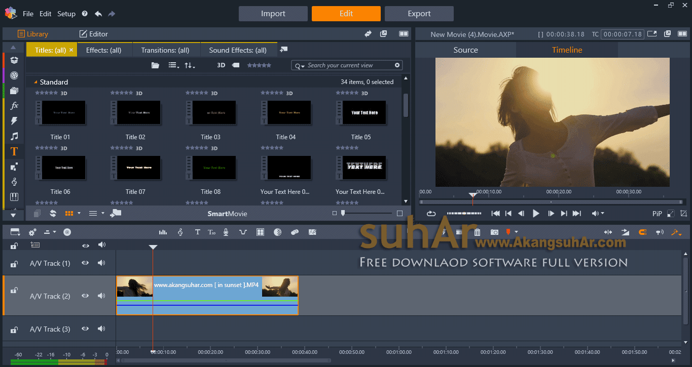 Pinnacle studio ultimate 21 1 full version suhar for Pinnacle studio templates free download