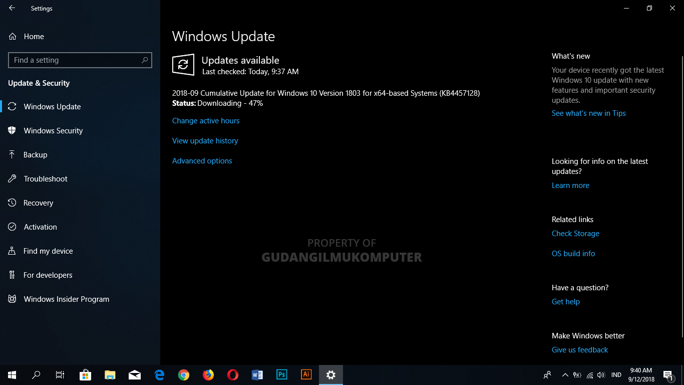Cara Cepat Update Windows 10