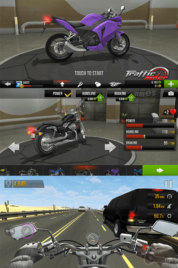 Traffic Rider Game Shots