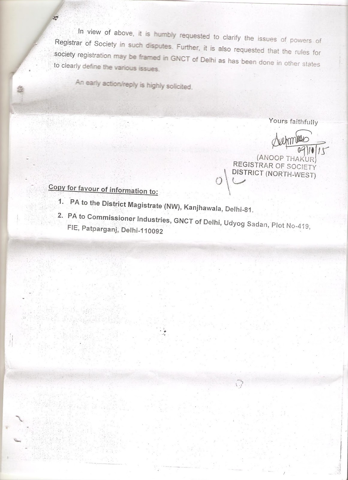 Institution Of Valuers Is Tainted Society? - Society Registrar RTI