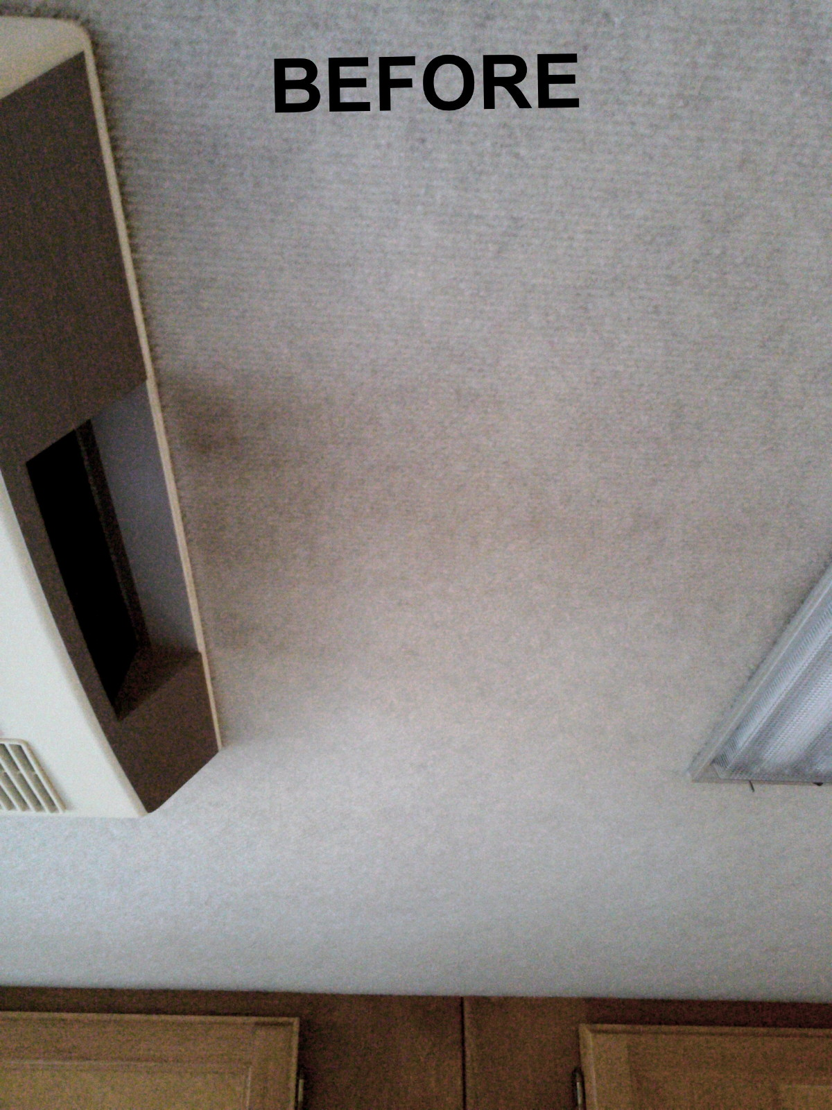 how to clean ceiling from smoke