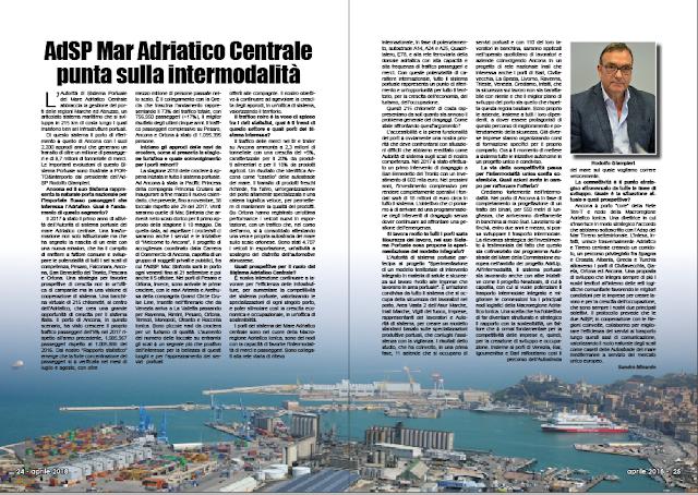 APRILE 2018 PAG. 24 - AdSP del Mar Adriatico Centrale punta sulla intermodalità