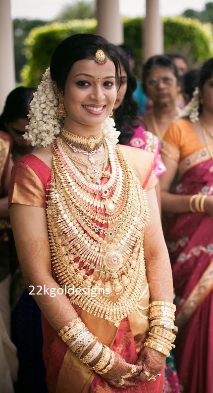 Very very Heavy Kerala Gold Bridal Jewellery