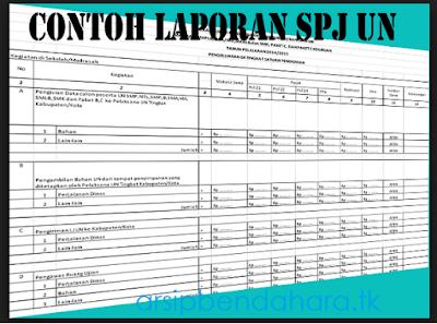 Download Contoh Format Excel SPJ Kegiatan Sekolah - Arsip Bendahara