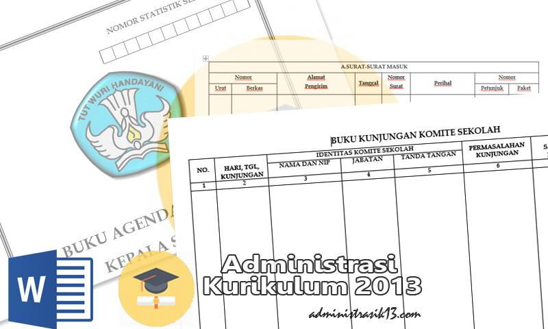35 Berkas Administrasi Tata Usaha Sekolah Lengkap Dengan Program Kerja Administrasi Kurikulum 2013