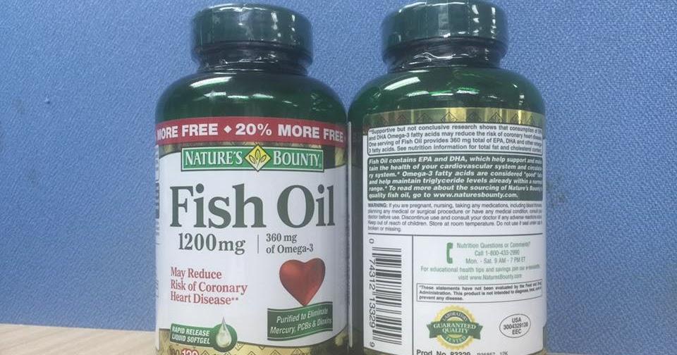 D u c nature s bounty fish oil 1 200 mg for Nature bounty fish oil