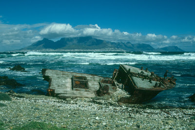 Cape Town, shipwreck, Robben Island, South Africa