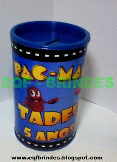 Cofrinho Pac Man, lembrancinha pac man, brine pac man, tema pac man, festa pac man