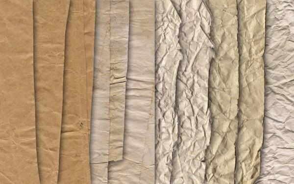 Текстуры мятой бумаги для Фотошопа