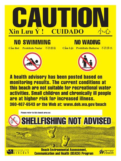 Fecal Matters: Swimming Advisory Issued for Titlow Park Beach, Pierce County