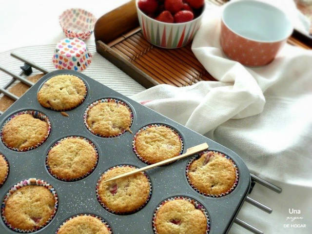 Muffins de fresas, recetas con fresas