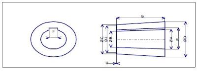 dimensions moyeu helice marine