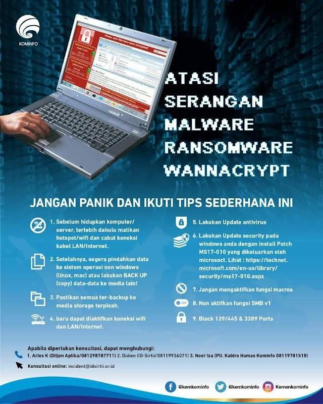 Ini Cara Cegah Dan Atasi Serangan Malware  Ransomware Wannacry