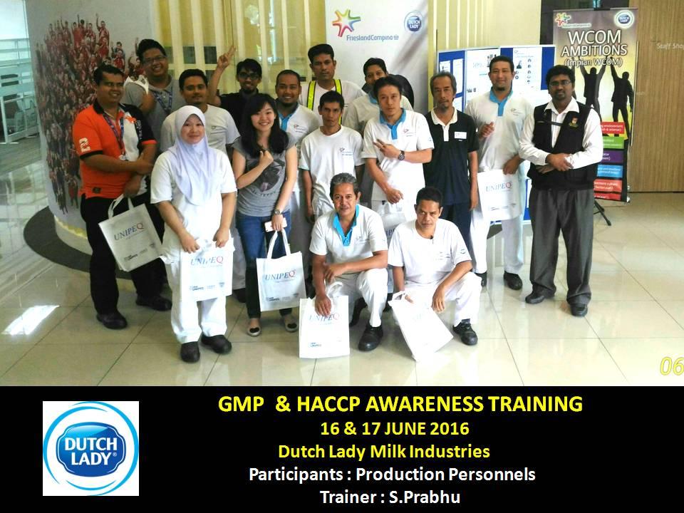 prabhu the trainer: GMP & HACCP Awareness Training for Dutch