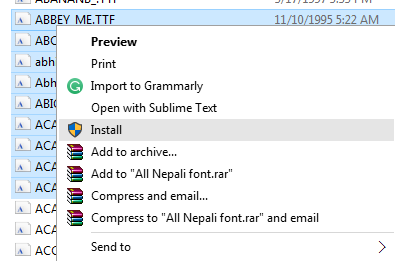 how to install fonts on windows 8