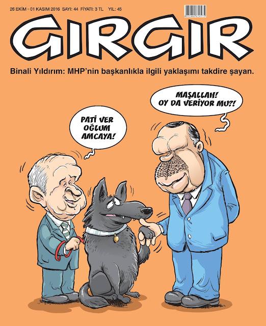 devlet bahçeli, tayyip erdoğan karikatür