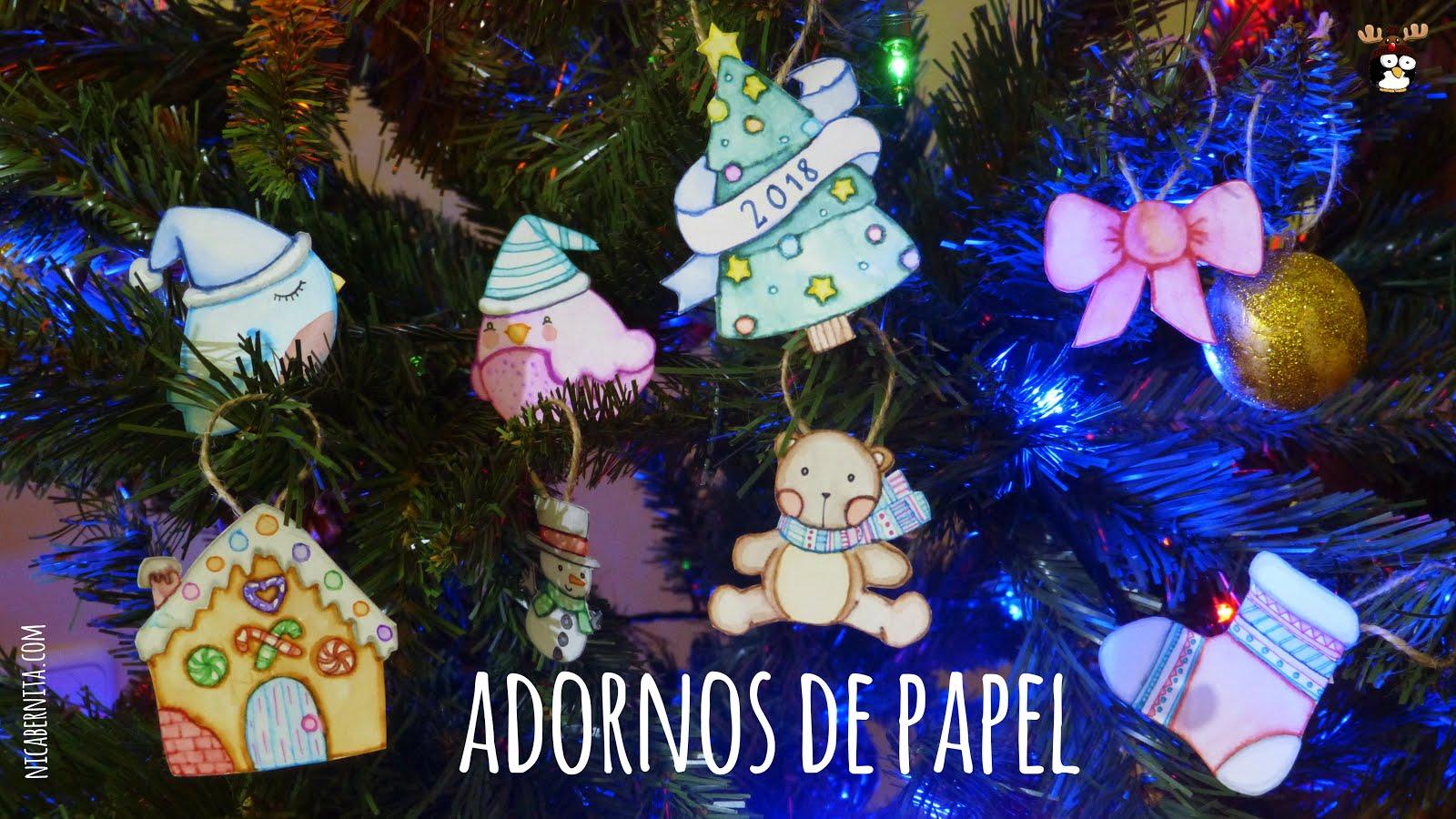 Diy adornos de papel para navidad decoraci n navide a casera - Decoracion navidena casera ...