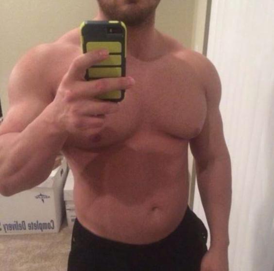 attractive male face selfie