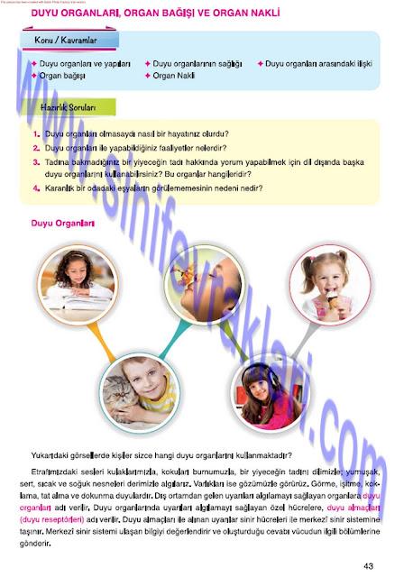 Mevsim Yayınları 7. Sınıf Fen Bilimleri Ders Kitabı Cevapları Sayfa 43