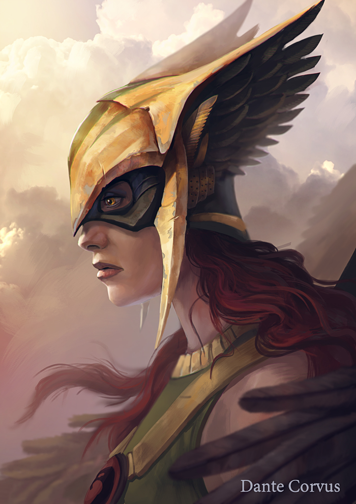 The Nerdy Werewolf Fascinating Fanart Hawkman And Hawkgirl