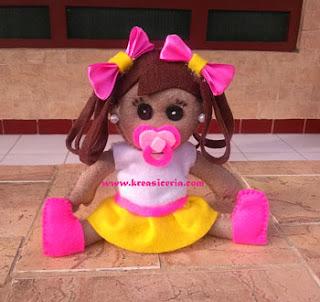 Cara Membuat Boneka Balita Lucu dari Kain Flanel
