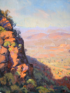Warwick Fuller painting - Shadows Cast, Mt Nameless