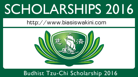 Budhist Tzu-Chi Scholarship 2016 for Diploma in Nursing / Assistant Nurse